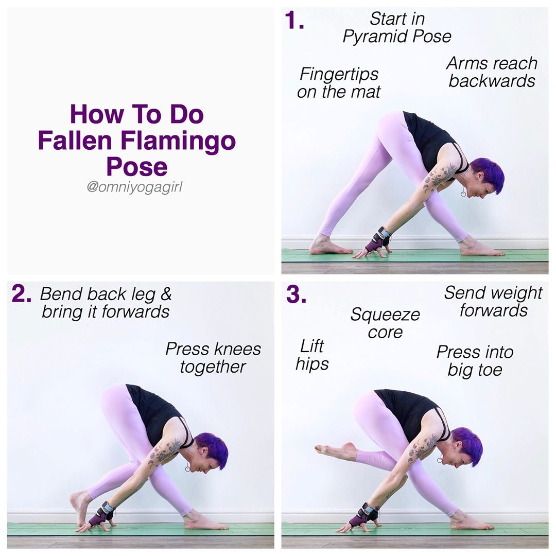 Laura Large On Instagram How To Do Fallen Flamingo Pose This Is A Variation Of Pyramid Pose Althou Cool Yoga Poses Yoga Tutorial Bikram Yoga Poses