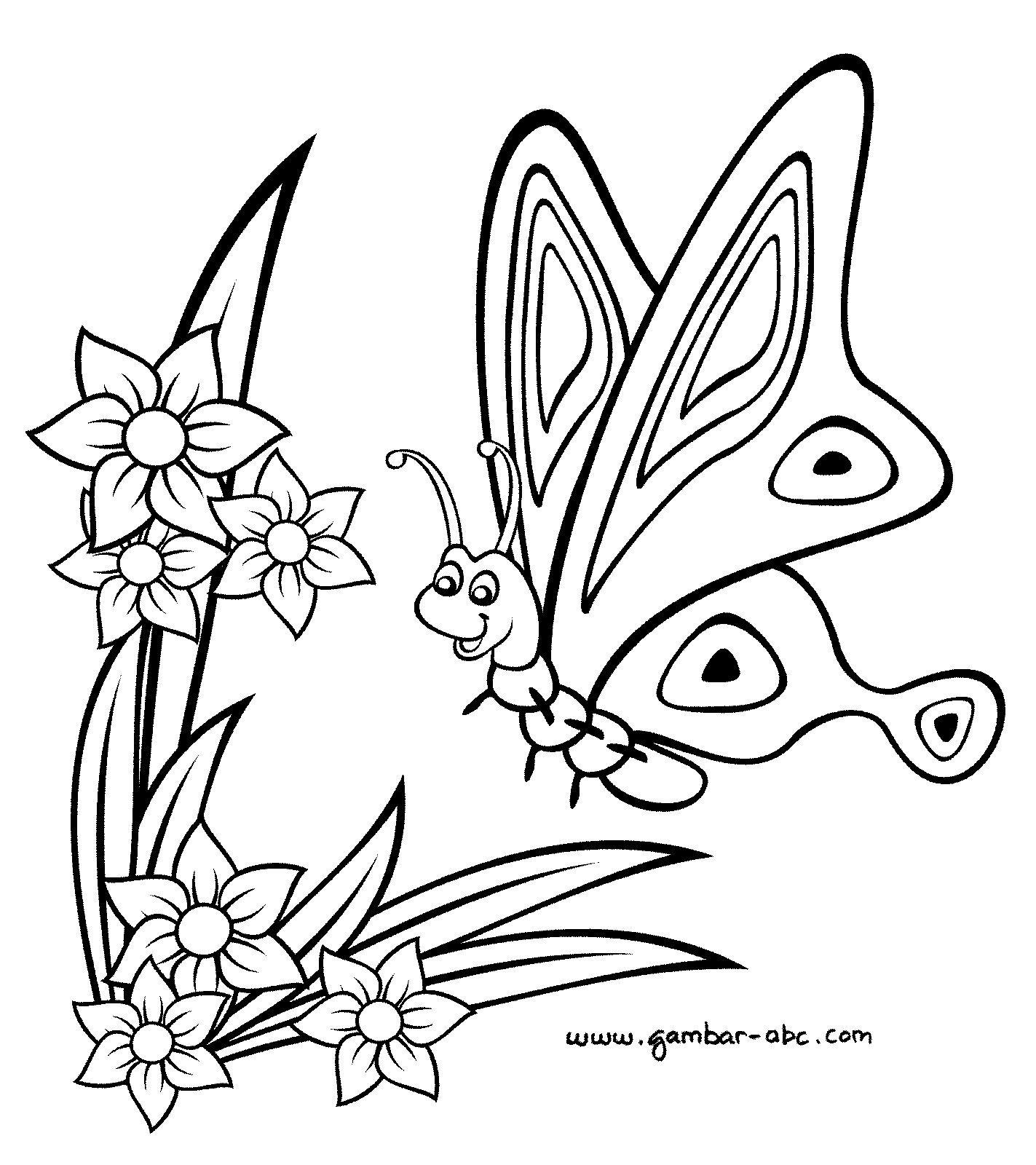 Sketsa Gambar Bunga Hitam Putih Mewarnai Kupu Kupu Contoh Gambar Sketsa Menggambar Kupu Kupu Menggambar Sketsa