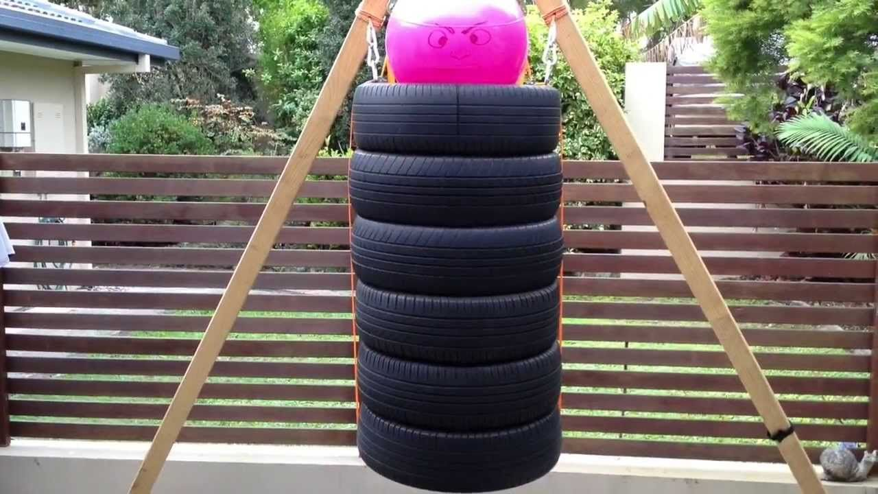 How to make a diy punchingboxing bag from old tires