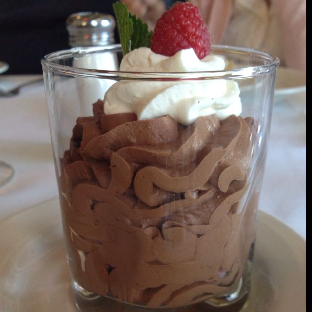 Double chocolate mouse. Yes please.