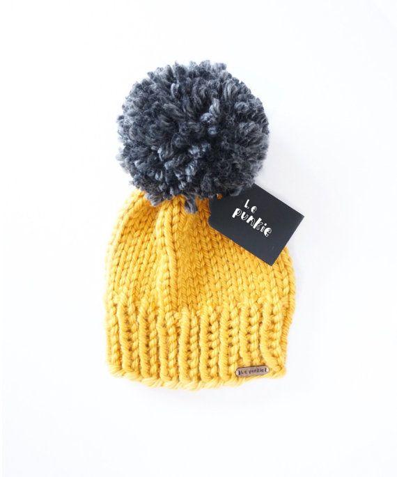 43bf9175ce8 Toddler beanie hat with pom pom baby beanie knit by LePunkie.com
