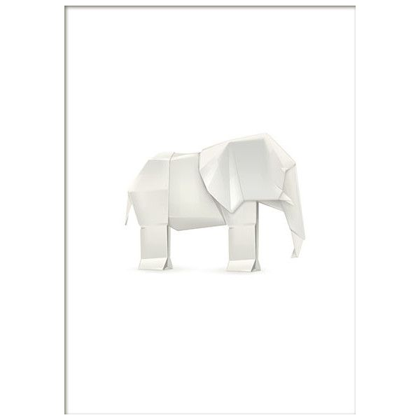 Origami elephant, prints ❤ liked on Polyvore featuring home, home decor, elephant home decor and elephant home accessories