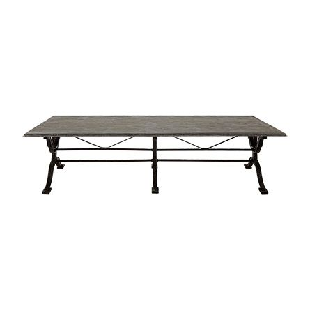 Buchon 54 Rectangle Iron Coffee Table With Bluestone Top
