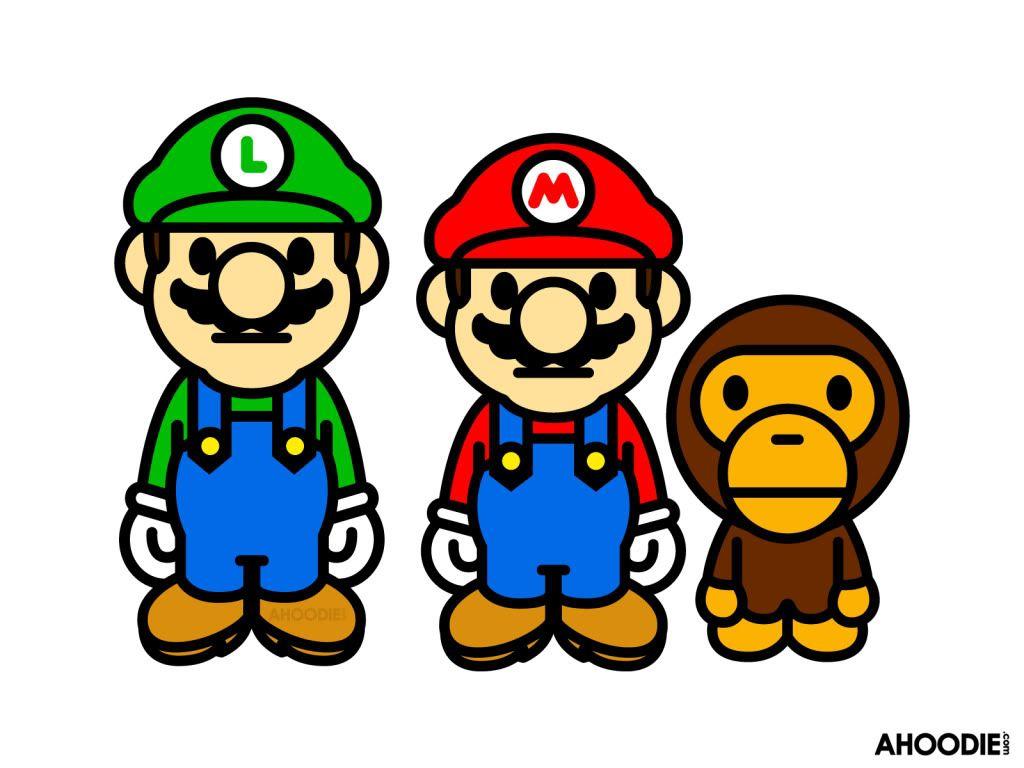 Lets A Goooo Bapecon Milo Nintendo Ds Wallpaper Mario