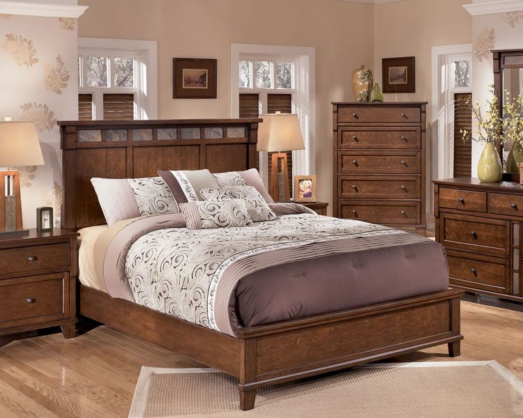 Ashley Bedroom Set Slate Owensboro Rustic Panel Bed With