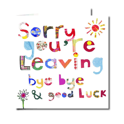 Sorry You Re Leaving Leaving Cards Card Template Gratitude Board