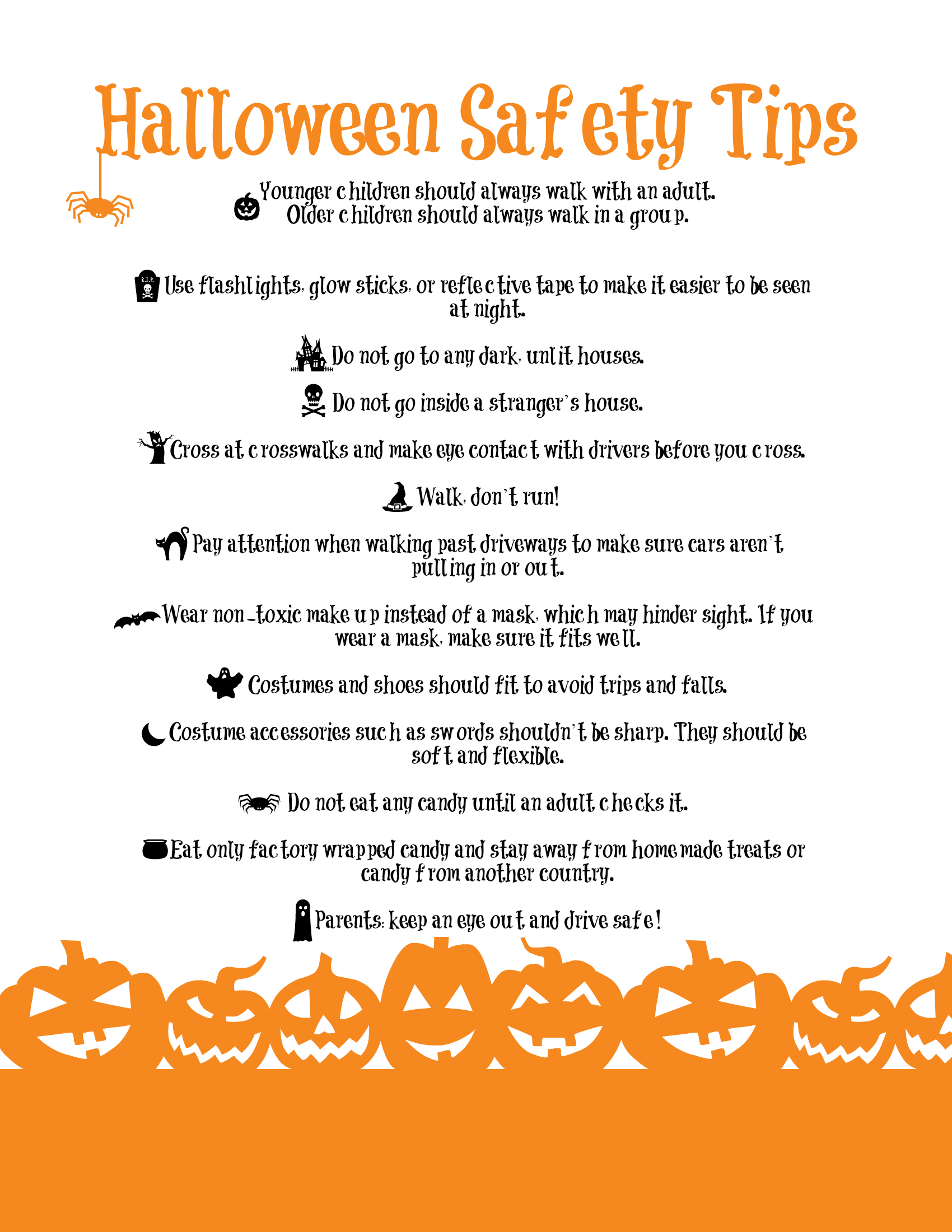 Image result for halloween safety tips