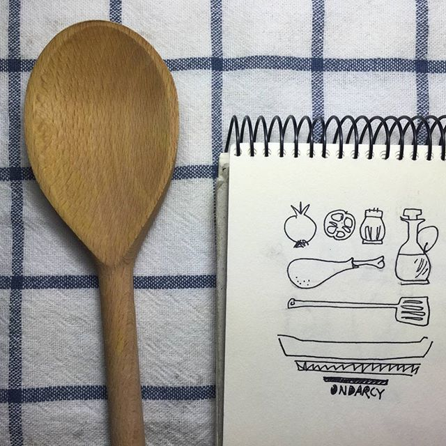 Todo listo, a comer!! #cooking #chef #design #lunch // illustrated recipe