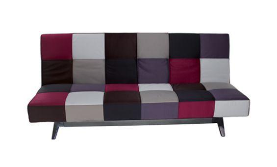 Sofá cama con apertura clic clac tapizado retro