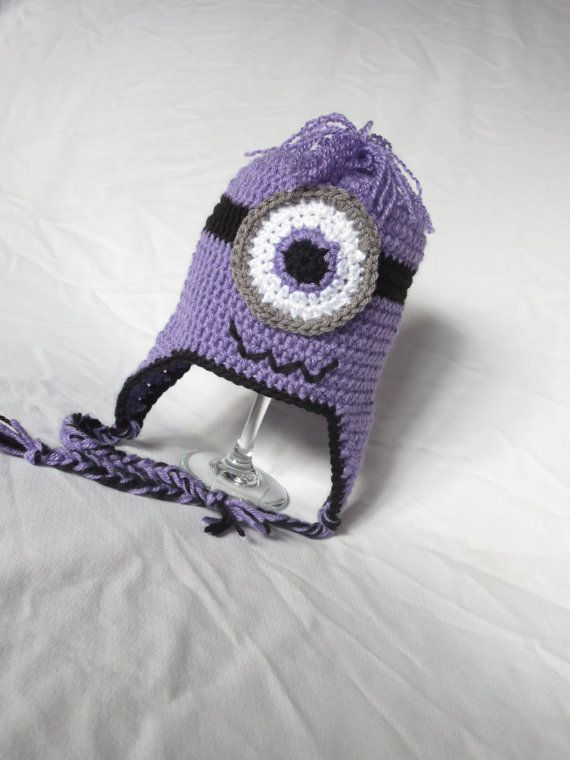 Despicable Me Evil Minion Hat | CROCHET HATS | Pinterest | Nietos
