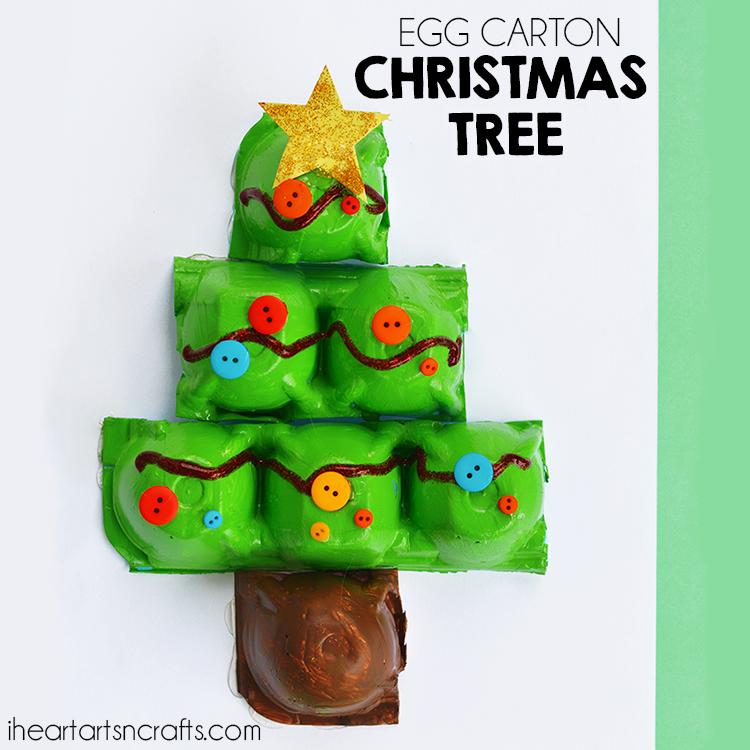 Egg Carton Christmas Tree Craft | Christmas tree crafts ...