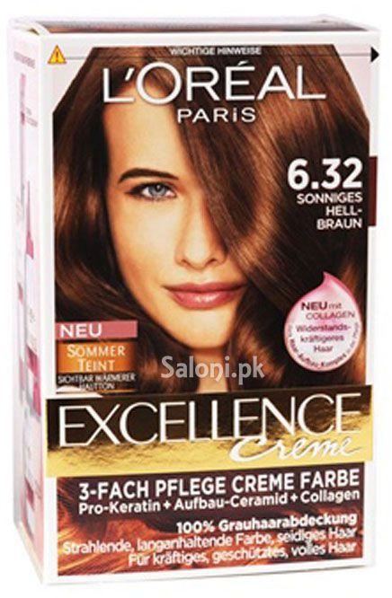 L Oreal Paris Excellence Creme 6 32 Golden Light Brown Loreal