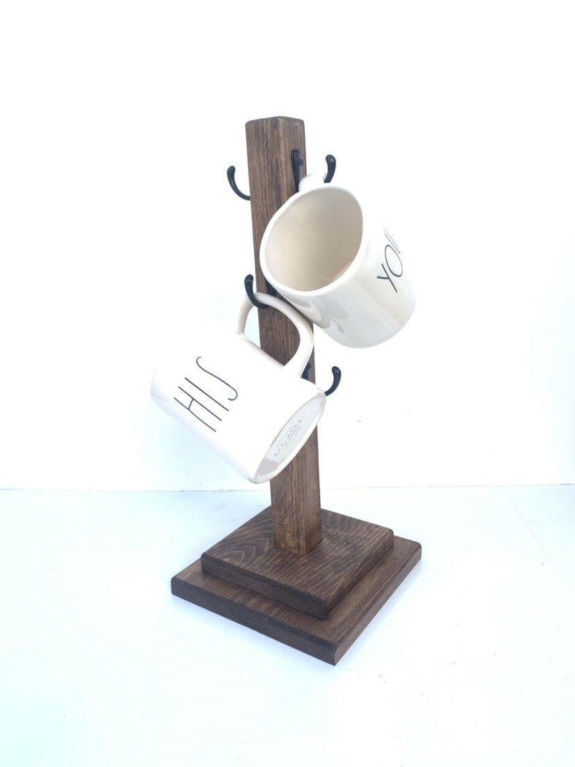 Coffee Mug Stand 6 Mugs Mug Stand Mug Holder Mug Tree Coffee Cup Stand Coffee Cup Holder 6 Hooks Coffee Cup Holder Mug Holder Mugs