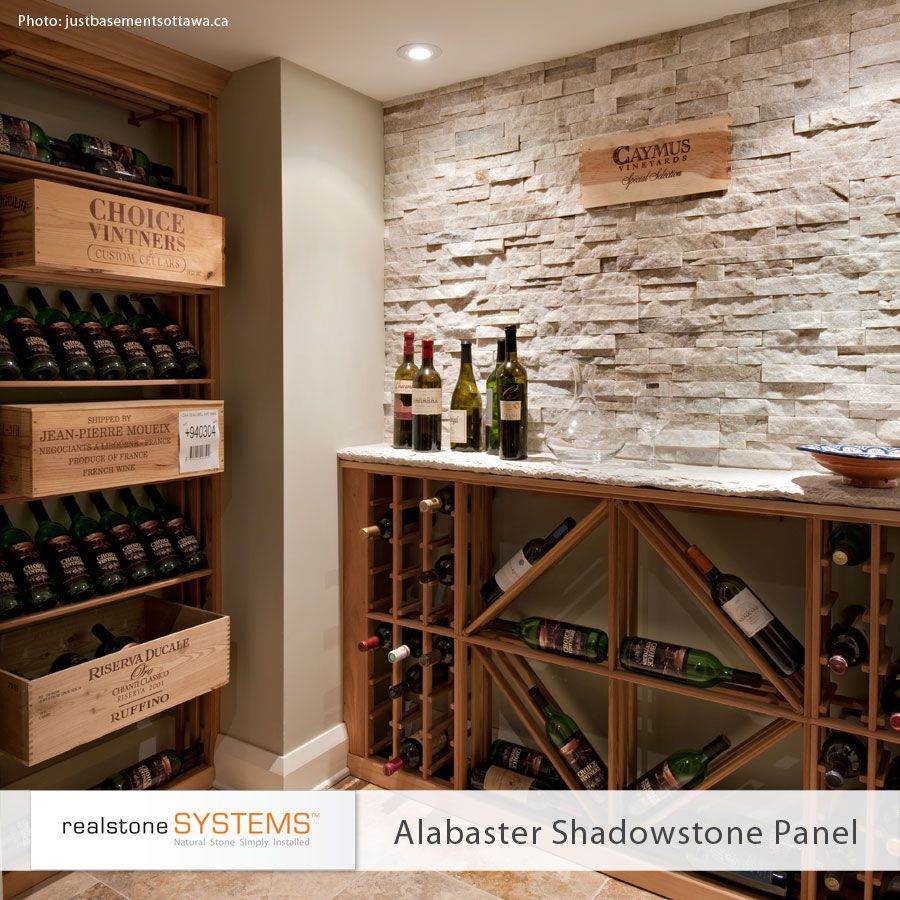 Cool Contemporary Wine Cellar With Gorgeous Realstone