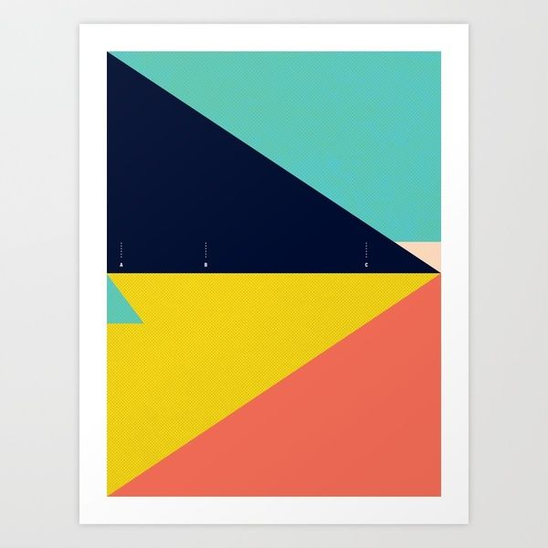 Secret Surf Map Art Print by Matthew Korbel-Bowers | Society6    love this color scheme