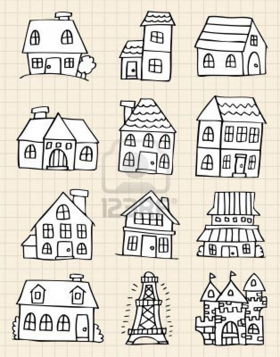 House Drawing, Cute House, House Doodle