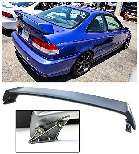For 96-00 Honda Civic 2Dr Coupe Mugen Style ABS Plastic Rear Wing Spoiler Lip