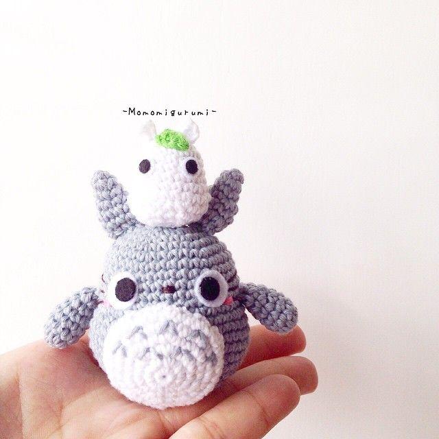 Grey Totoro Amigurumi Crochet Pattern ❤️ Mycrochet in 2020 ... | 640x640