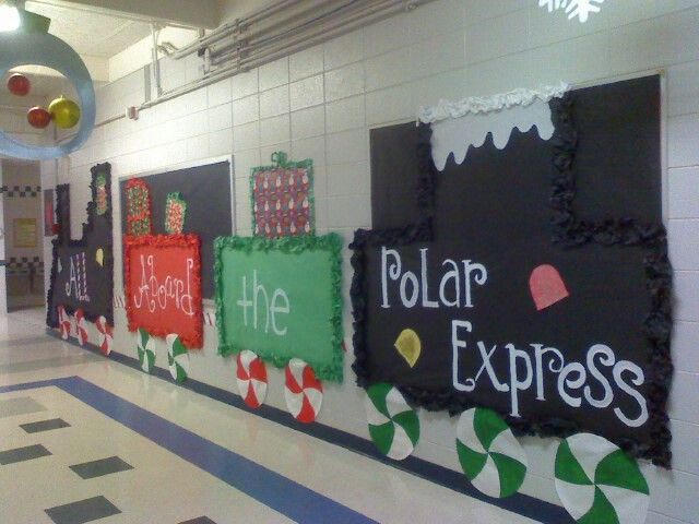 Polar Express Classroom Decoration Ideas ~ Polar express bulletin board and door ideas for school