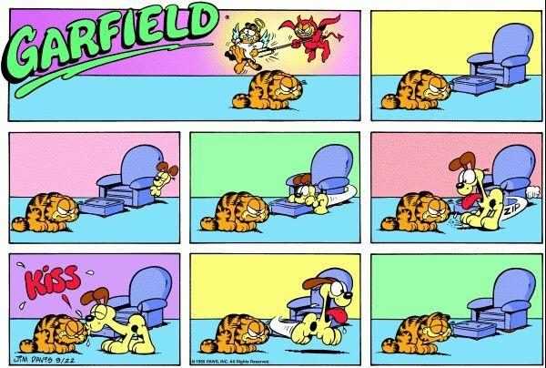 Odie Kisses Fix All Comic Strips Garfield Comics Garfield