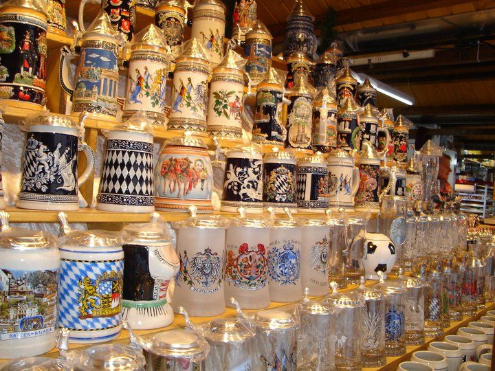 Christmas Steins you can find on German Christmas Markets