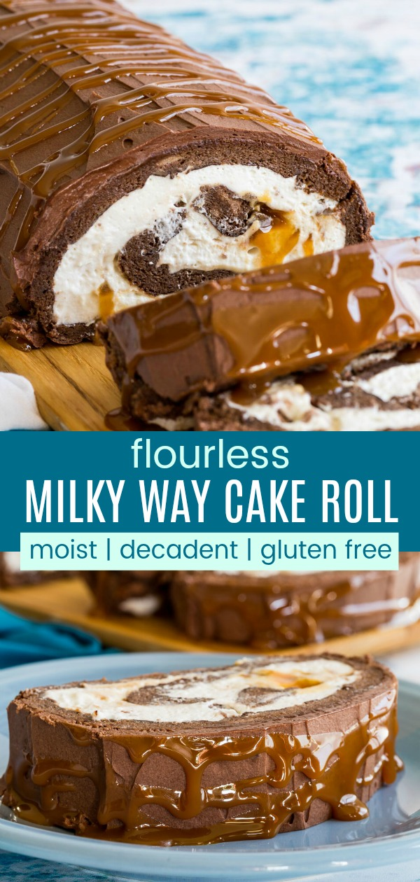 Photo of Milky Way Flourless Chocolate Cake Roll | Cupcakes & Kale Chips