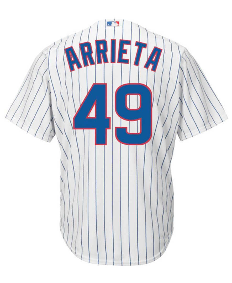 6f2e1fbd5 Let the young fan in your life dream about being on the field in this Chicago  Cubs Majestic Mlb kids' Player Replica Cb jersey - Jake Arietta.