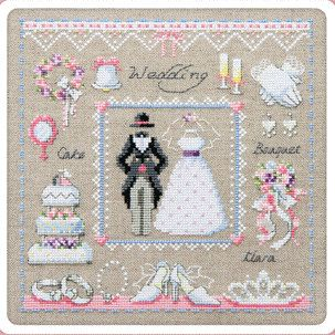 Wedding sampler cross stitch pattern and kit counted by sewsewnsew ...