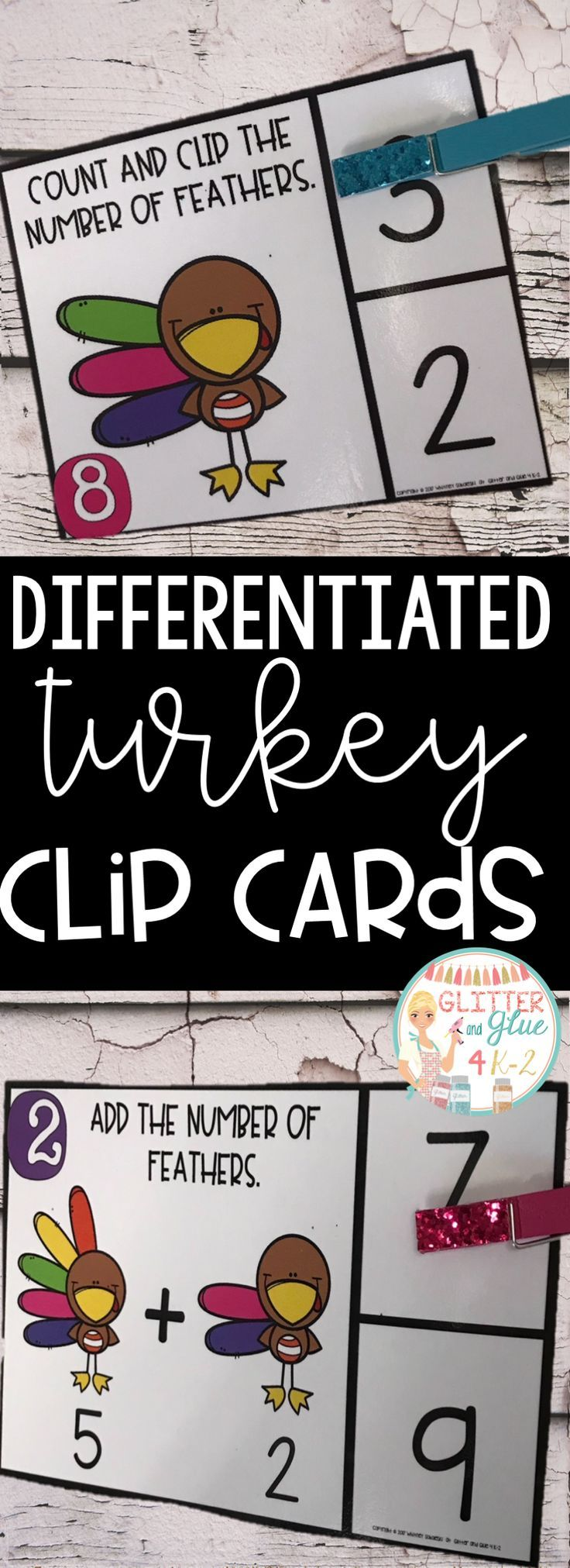 Differentiated Counting and Addition Clip Cards