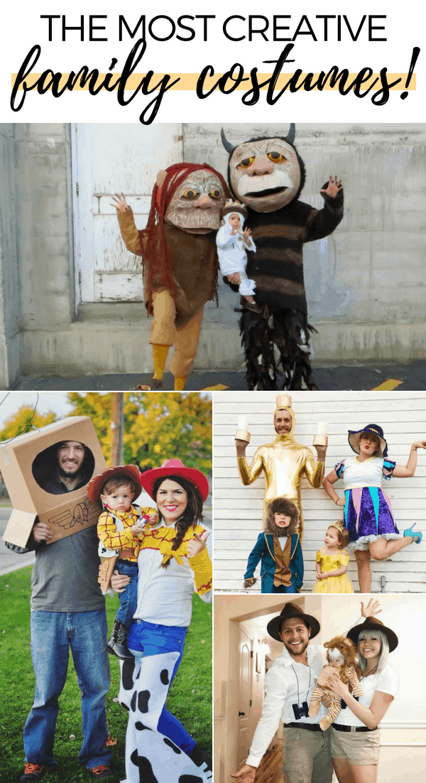 These DIY family Halloween costumes are simply amazing! Check out the post for 100