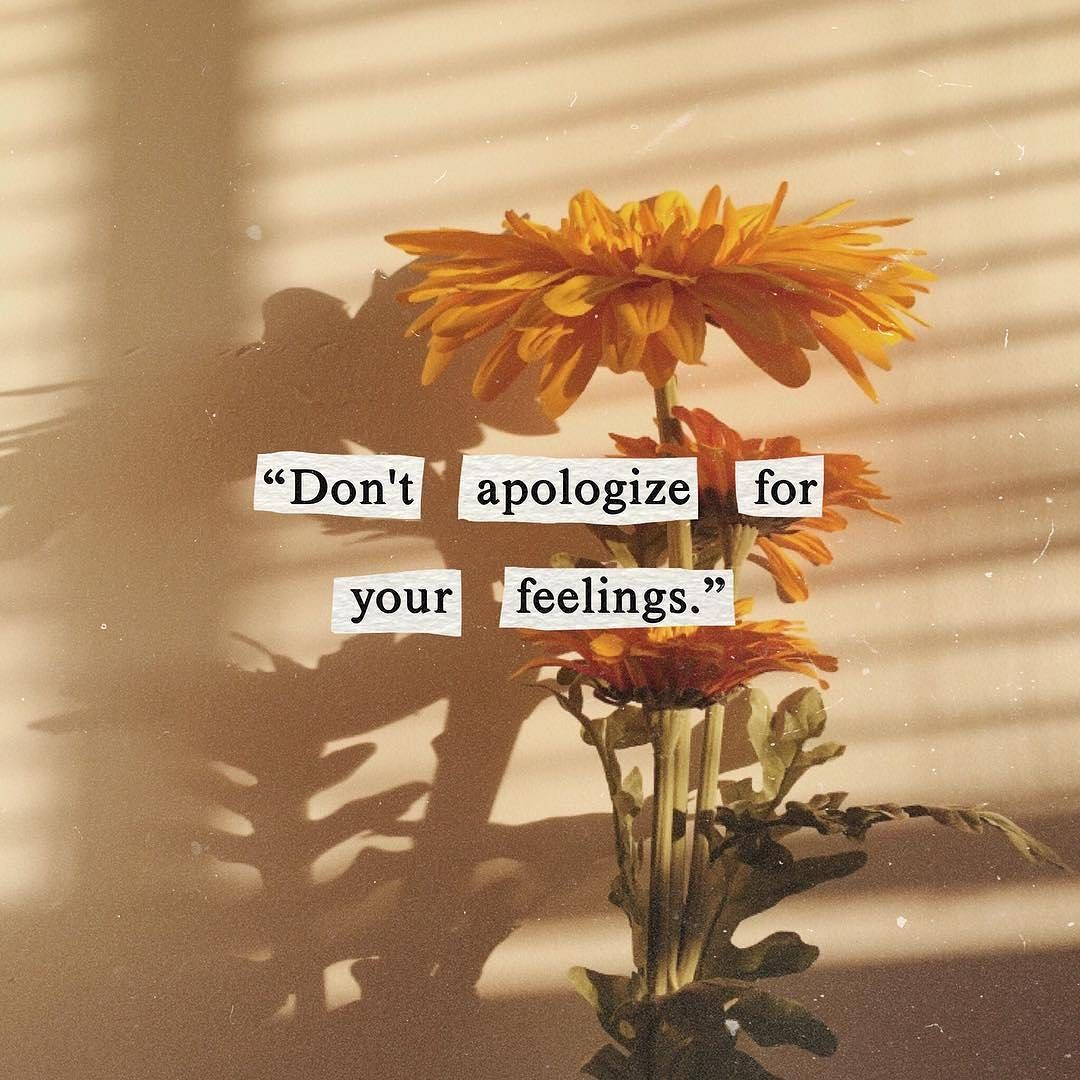 Don T Apologize For Your Feelings In