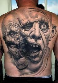Back piece. Tattoo.