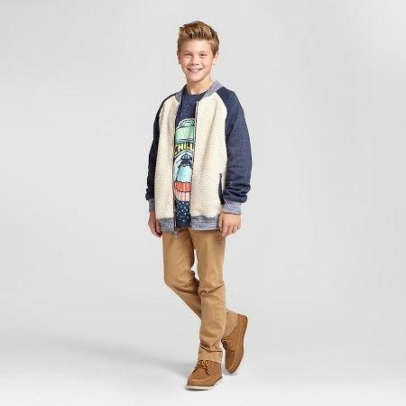 5f905d67d Boys' Fashion Jacket - Cat & Jack™ Cream/Navy : #Target | Kids ...