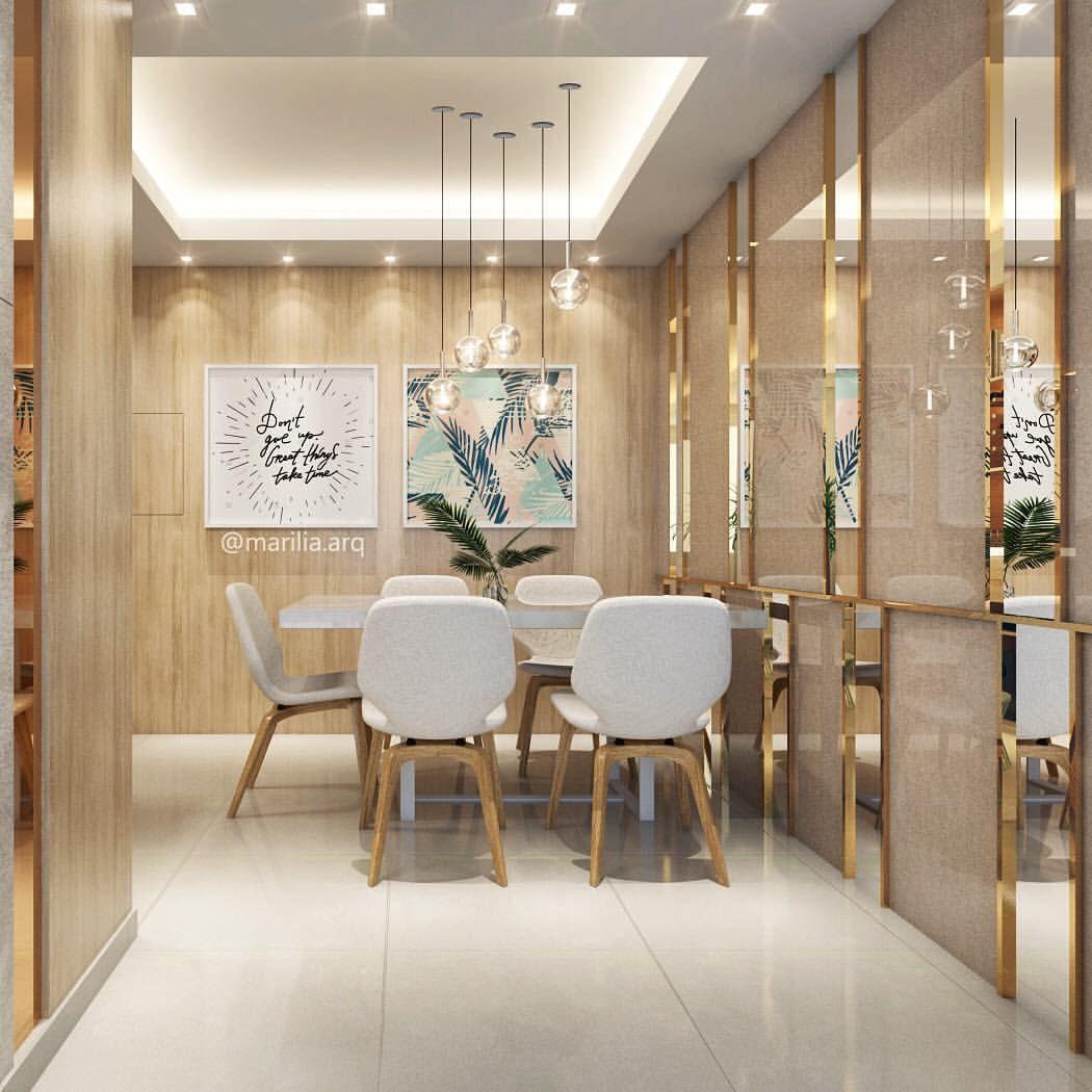 Sala De Jantar Com Espelho Na Parede Fotos Decorao Sala De Jantar  -> Parede De Sala Diferente