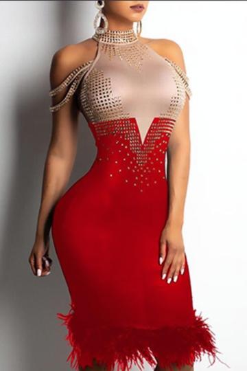 2e22c6eecbf41 SKU:CIH778FLDinner Party, Cocktail Party, Wedding, Club Dress, Stretch  Type: Very Stretchy, Form-Fitting, Bodycon Material: Bandage (90% Rayon, 9%  Nylon, ...