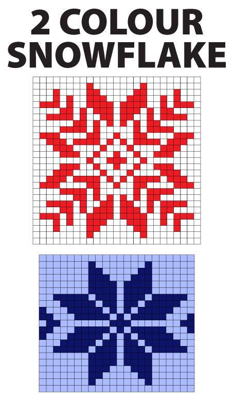 Norwegian Snowflake Knitting Charts
