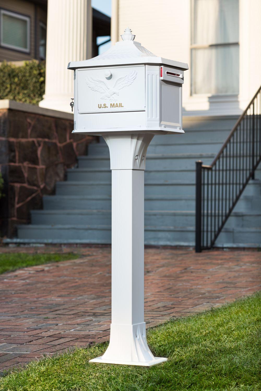 Hamilton Locking Mailbox Mounted Mailbox Mailbox Post Mount