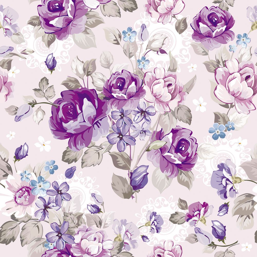 purple flower pattern wallpaper high quality ~ desktop wallpaper box