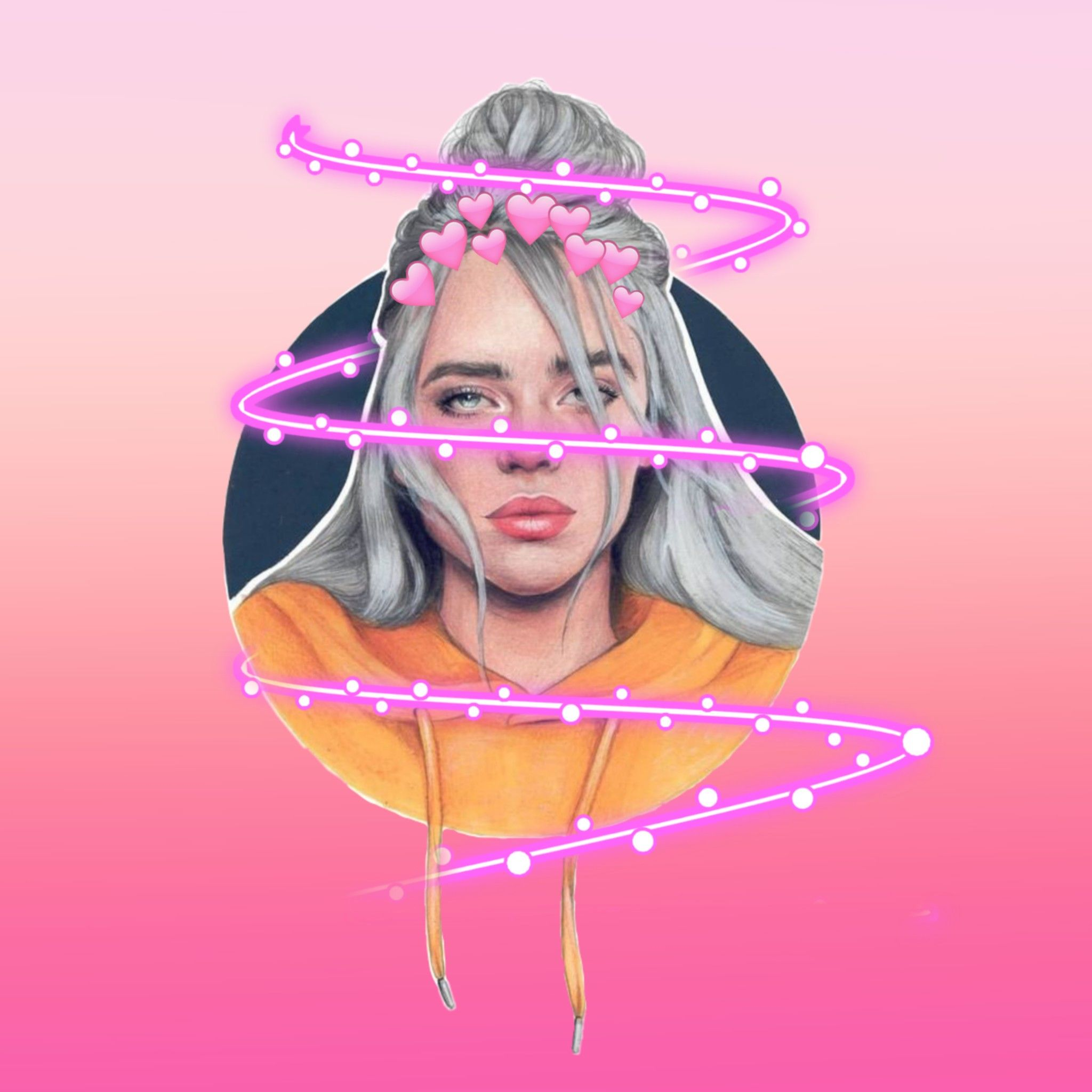 10 Ways To Use Stickers To Flood Your Socials With Billie Eilish Fan Art Create Discover With Picsart Billie Eilish Billie Picsart