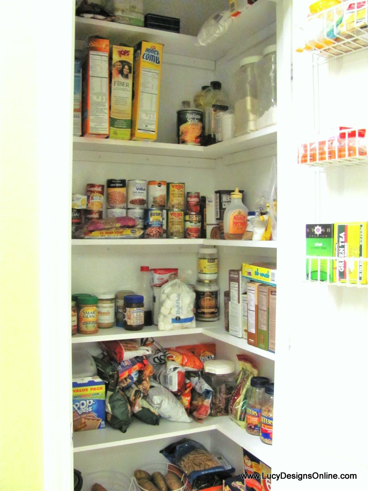 kitchen pantry makeover diy installing wood wrap around shelving to rh pinterest com