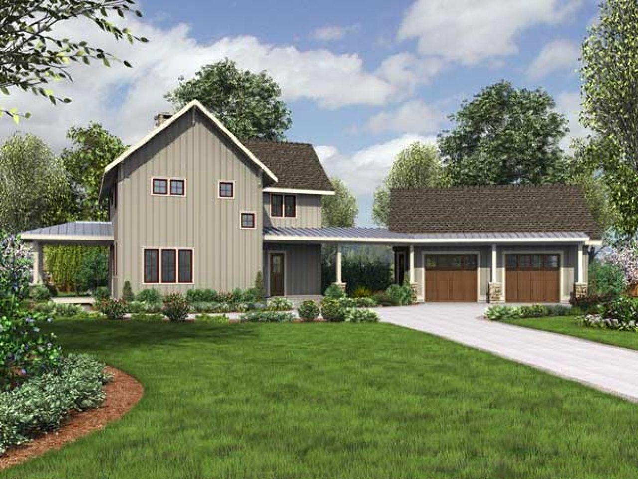 Image result for modern farmhouse house plan Modern