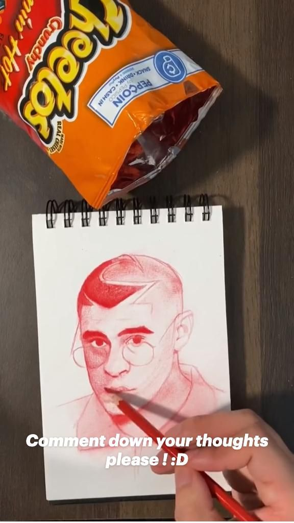 Got bored while eating Cheetos 😂