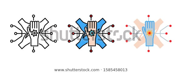 Business Strategy Icon Set Isolated On Stock Vector Royalty Free 1585458013 Icon Set Business Strategy Stock Vector