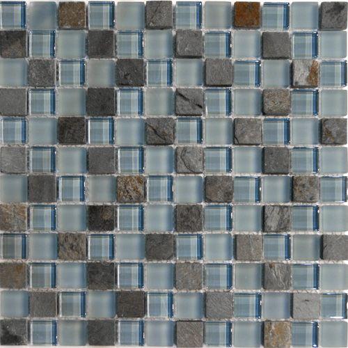 Ocean Blue Stone Gl Mosaic Tile In Stock 13 5 Sf
