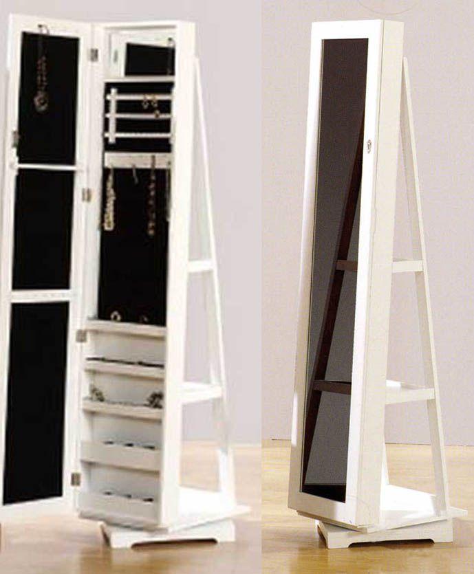 Espejos vestidores fine giratorio blanco decoracion for Espejo vintage plateado