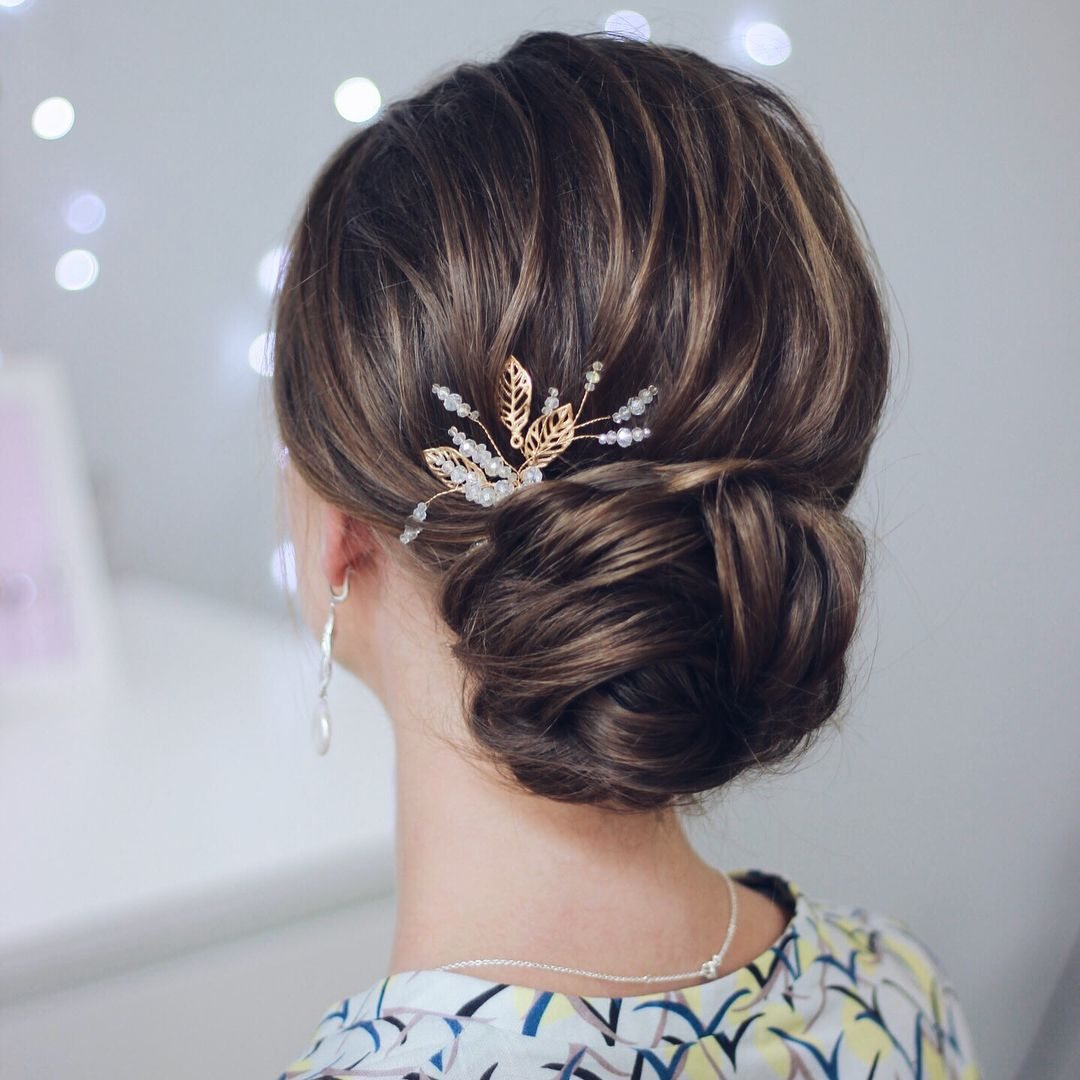 Elegant updo wedding hairstyles,updo hairstyles,messy updos #weddinghair  #wedding #hairstyles #updowedding #weddinghairstyles
