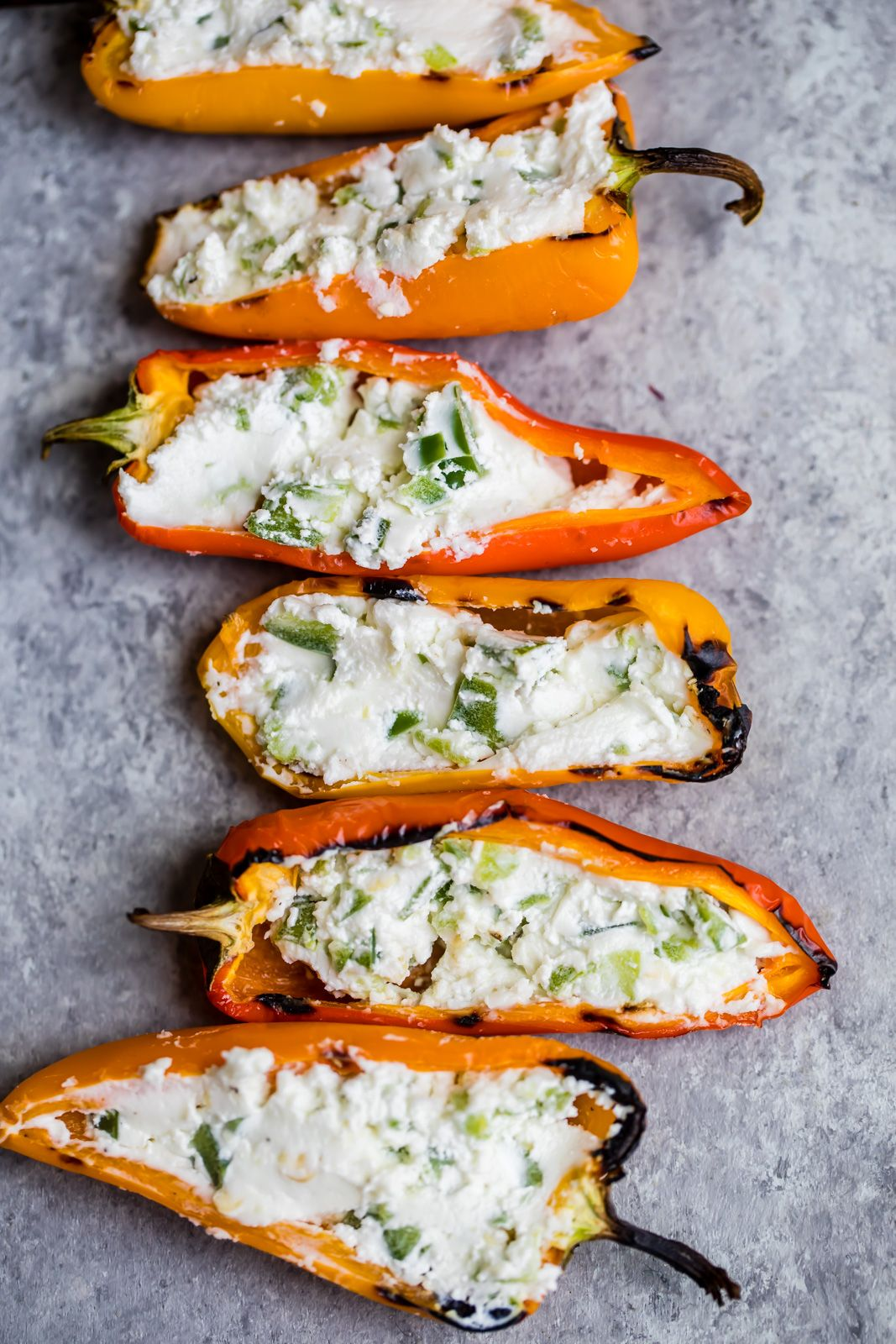 Grilled Stuffed Mini Peppers That Are Both Easy And Delicious This Vegetarian Appetizer Is In 2020 Stuffed Mini Peppers Vegetarian Appetizers Vegetarian Recipes Easy