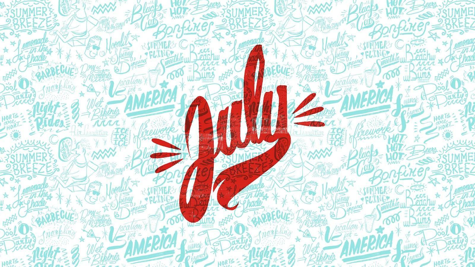 Hello JulyCalendar Wallpaper