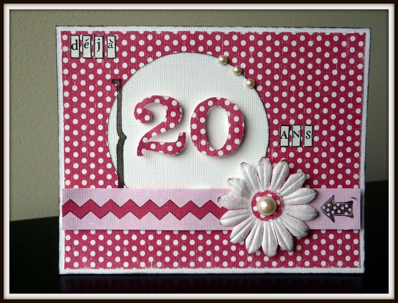 Carte Anniversaire 20 Ans Photo De Cartes Scrap Scrapbooking Memories Carte Anniversaire Carte Anniversaire 20 Ans Carte Anniversaire Scrap