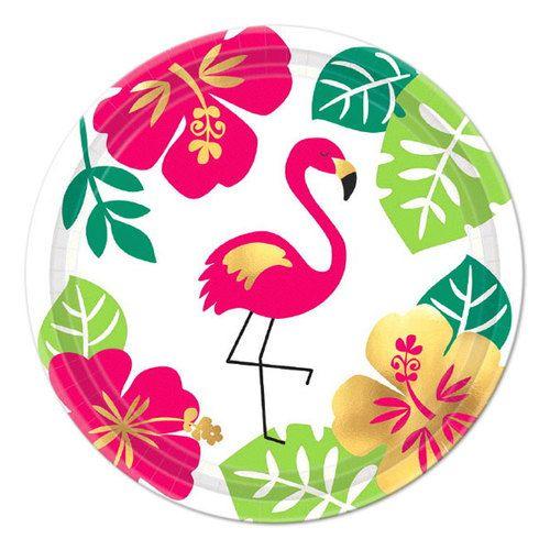 Aloha Metallic Plates, 7in, 8ct #alohaparty